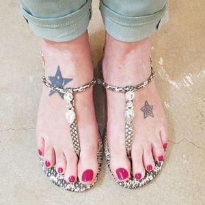 Badgley Mischka Crystal Embellished Sandals